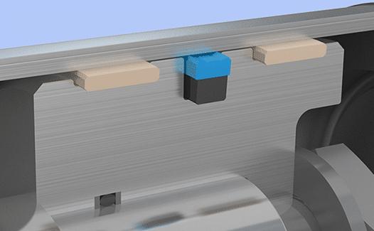 Piston seal installation example
