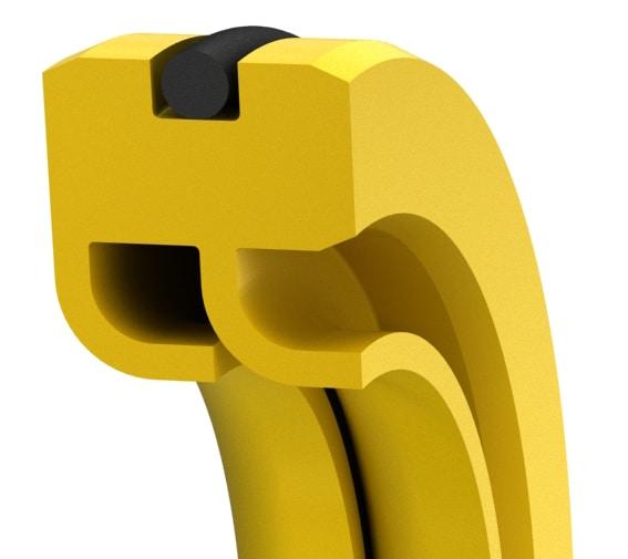 Double-lip PTFE rotary shaft seal