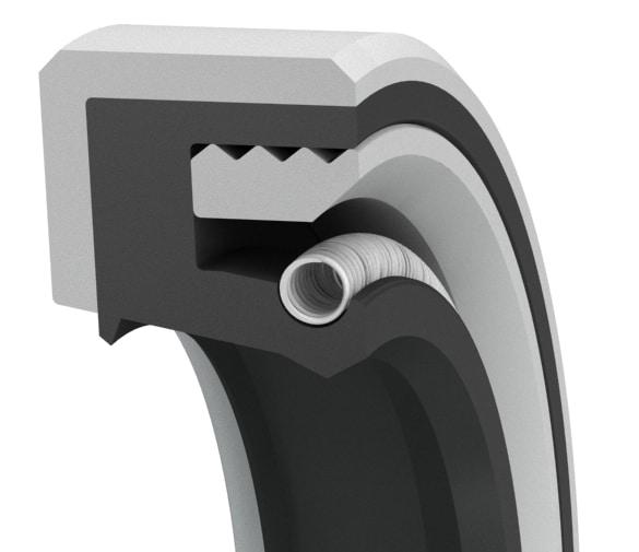 Medium-pressure double-lip oil seal