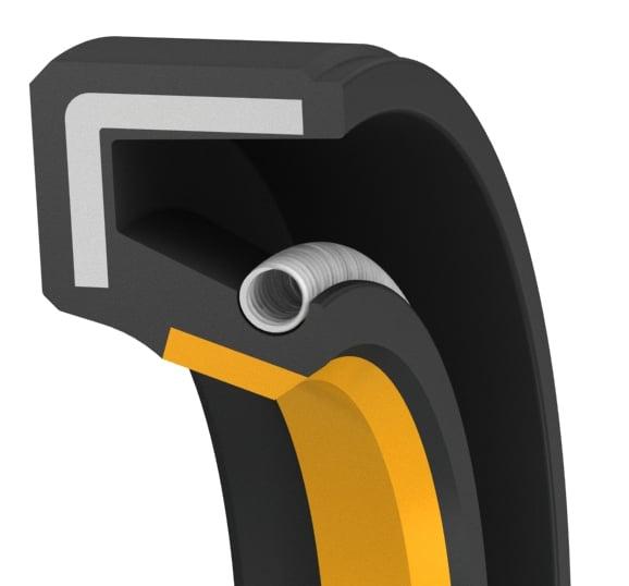 Single-lip high-performance rotary shaft seal