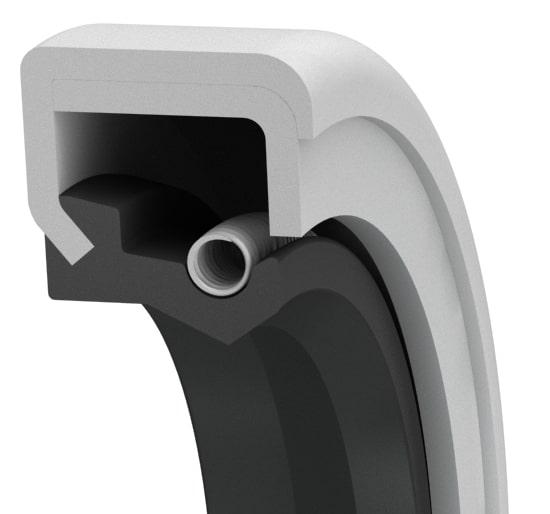 Spring-loaded reinforced metal-cased single-lip oil seal
