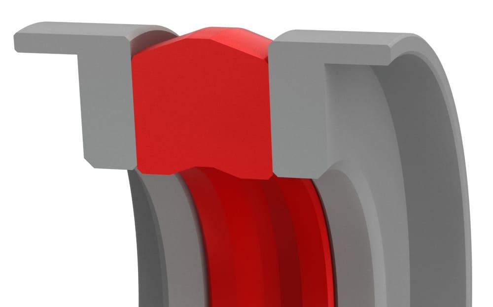 Medium-Duty Bi-Directional Compact Piston Seal with Wear Rings