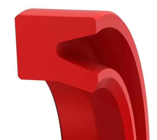 Snap-In U-Wiper for Hydraulic Beveled Lip